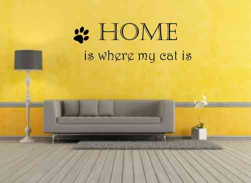 home is where my cat is mit Pfote